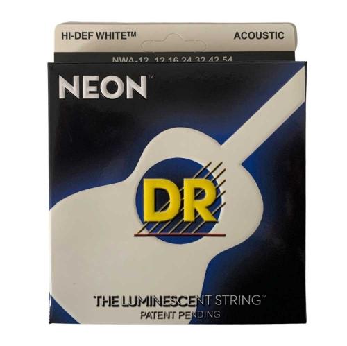 DR Strings MWA12 Neon Wit Akoestische Snaren (12-54), K3 Coating
