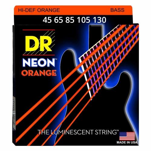 DR Strings NOB5-130 Neon Orange Bassnaren Coated (45-130)