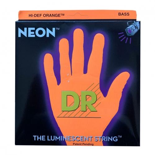DR Strings NOB5-45 Neon Orange Bassnaren 5-Snarig Coated (45-125)