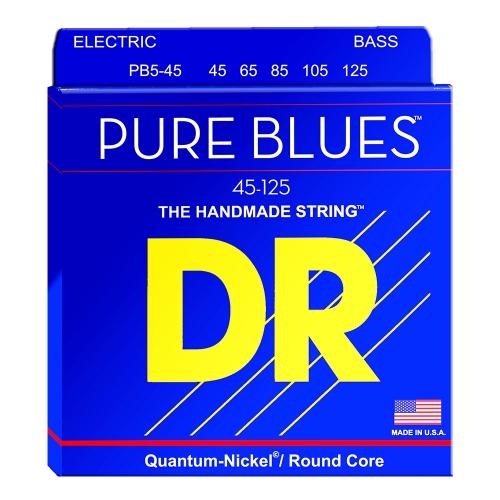 DR Strings PB5-45 Pure Blues Bassnaren 5-Snarig (45-125)