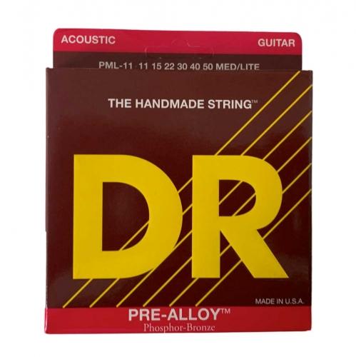 DR Strings PML11 Pre-Alloy Akoestische Snaren (11-50) Phosphor Bronze - Aanbieding