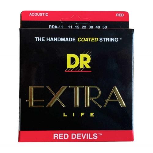 DR Strings RDA11 Red Devils Akoestische Snaren (11-50), K3 Coating