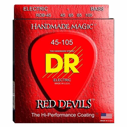 DR Strings RDB45 Red Devils Bassnaren Coated (45-105)
