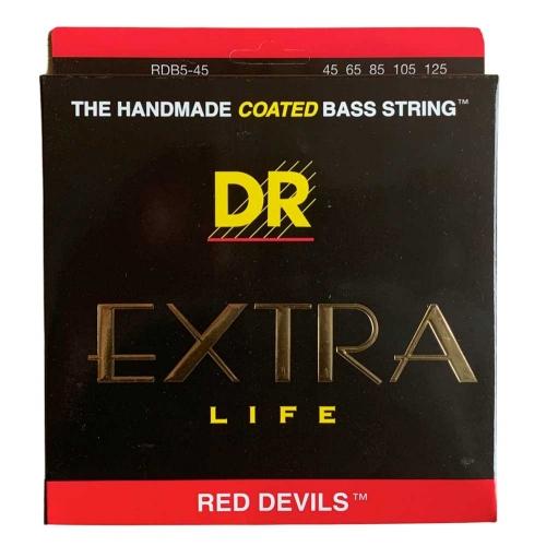 DR Strings RDB5-45 Red Devils Bassnaren Coated 5-Snarig (45-125)