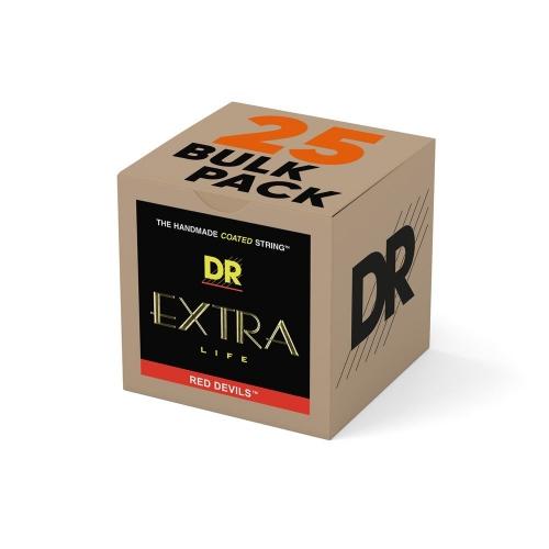 DR Strings RDE942 Red Devils Extra-Life Elektrische Snaren Bulk 25-Pack