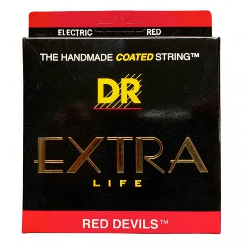 DR Strings RDE12 Red Devils Elektrische Snaren (12-52), K3 Coating
