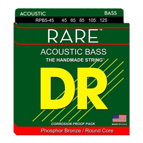 DR Strings RPB5-45 Rare Akoestische Bassnaren 5-Snarig (45-125)
