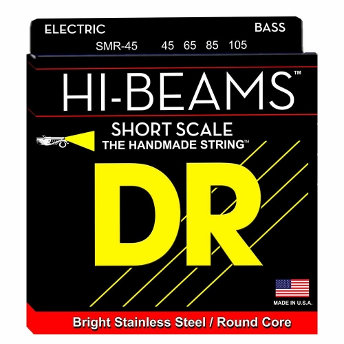 DR Strings SMR45 Hi-Beam Short Scale Bassnaren (45-105)