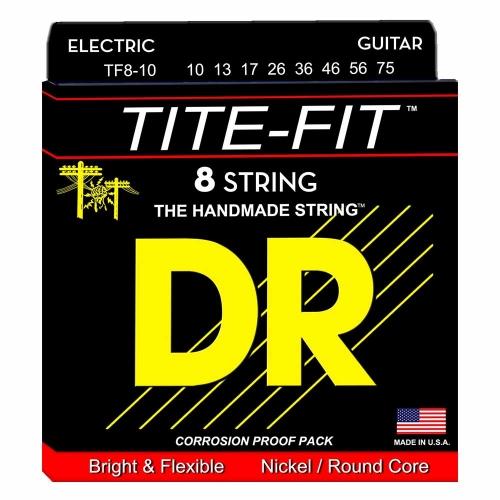 DR Strings TF8-10 Tite-Fit Elektrische Snaren (10-75) 8-Snarig