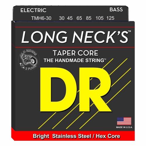 DR Strings TMH6-30 Long Necks Tapered Bassnaren 6-Snarig (30-125)