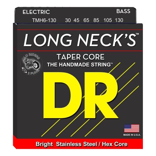 DR Strings TMR6-130 Long Necks Tapered Bassnaren 6-Snarig (30-130)