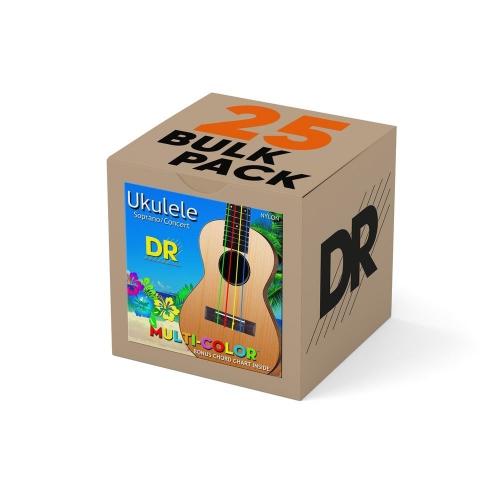 DR Strings UMCSC Multicolor Sopraan/Concert Ukulele Snaren (Nylon) Bulk 25-Pack