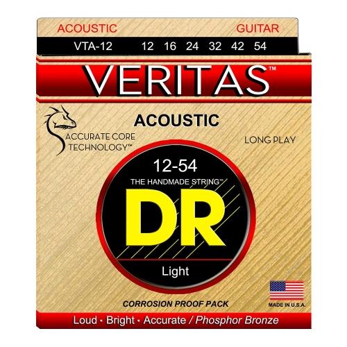 DR Strings VTA12 Veritas Akoestische Gitaarsnaren (12-54)