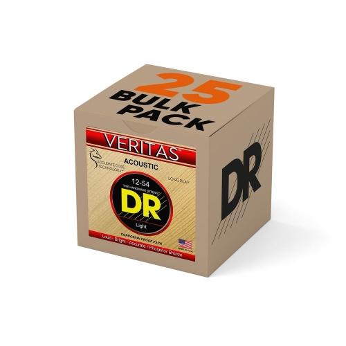 DR Strings VTA12 Veritas Akoestische Gitaarsnaren (12-54) Bulk 25-Pack