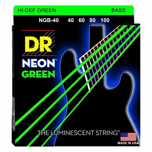 DR Strings NGB40 Neon Green Bassnaren Coated (40-100)