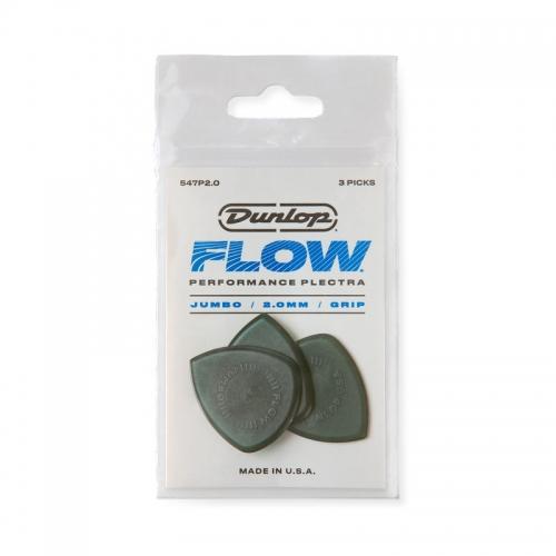 Dunlop 547P200 Flow Jumbo Grip Plectrum 3-Pack