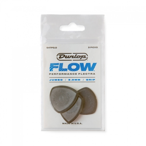 Dunlop 547P300 Flow Jumbo Grip Plectrum 3-Pack