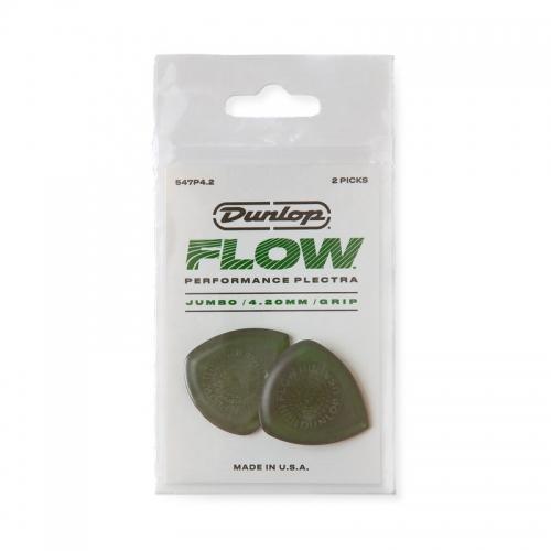 Dunlop 547P420 Flow Jumbo Grip Plectrum 2-Pack