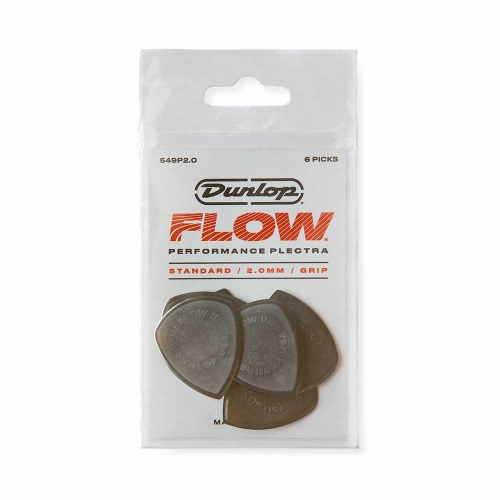 Dunlop 549P200 Flow Standaard 2.0mm Plectrum 6-Pack
