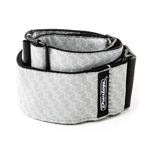 Dunlop D6712 Cube Hatch Light Grey Jacquard Gitaarband
