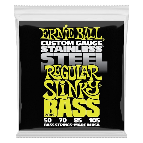 Ernie Ball 2842 Regular Slinky Stainless Steel Bassnaren (50-105)