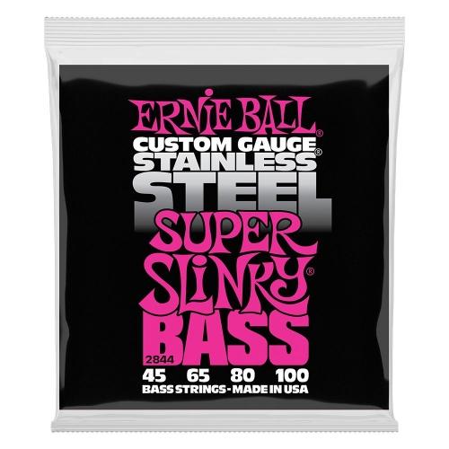 Ernie Ball 2844 Super Slinky Stainless Steel Bassnaren (45-100)