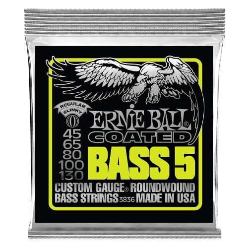 Ernie Ball 3836 Gecoate Bassnaren 5-Snarig (45-130)