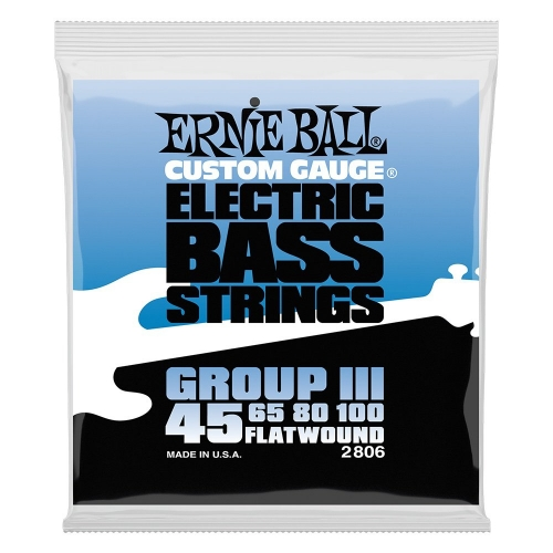 Ernie Ball 2806 Group III Flatwound Bassnaren (45-100)