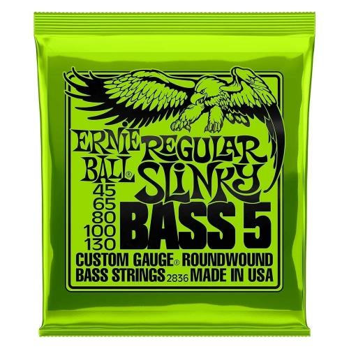 Ernie Ball 2836 Regular Slinky Snaren voor 5-Snarige Basgitaar (45-130)