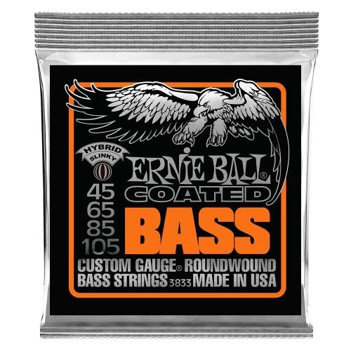 Ernie Ball 3833 Hybrid Slinky Gecoate Bassnaren (45-105)