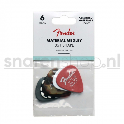 Fender 351 Material Variety Pack Heavy /1.5mm 6-Pack 1980100500