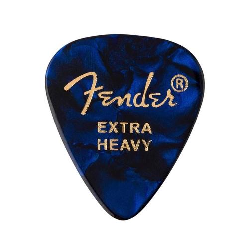 Fender 351 Shape Premium Celluloid Plectrums Extra Heavy 12-Pack - Blue Moto 1980351602