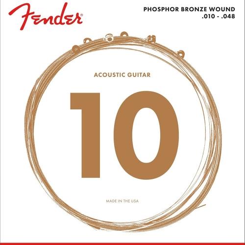 Fender 60XL Phosphor Bronze Snaren voor Akoestische Gitaar (10-48)