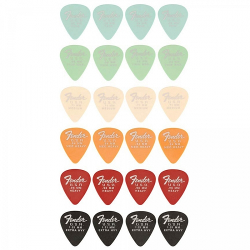 Fender Dura-Tone Mixed Pickpack Plectrums 24-Pack 1987351049