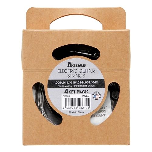 Ibanez PIEGS6 Super Light Elektrische Gitaarsnaren (9-42) 4-Pack