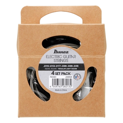Ibanez PIEGS61 Regular Light Elektrische Gitaarsnaren (10-46) 4-Pack