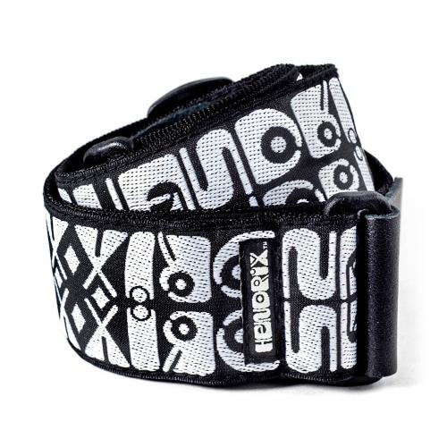 Dunlop JH05 Jimi Hendrix Logo Zwart/Wit Gitaarband
