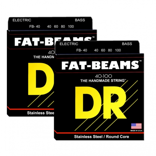 DR FB40 Fat Beams Bassnaren Long Scale (40-100) 2-Pack