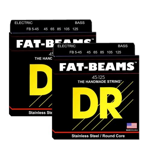 DR FB5-45 Fat Beams Bassnaren 5-Snarig (45-125) 2-Pack