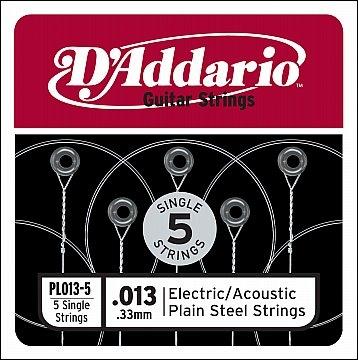 d'addario 013 losse snaren voor elektrische en akoestische gitaar