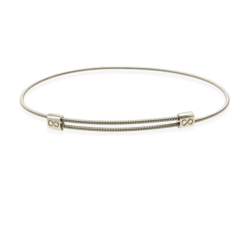 JustInfinity Armband Staal/Zilver Medium