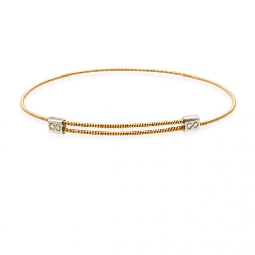 JustInfinity Armband Brons/Zilver Medium