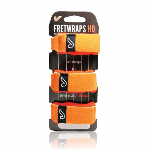 GruvGear FW-3PK-ORG-LG Fretwraps Flare HD Oranje Large 3-Pack