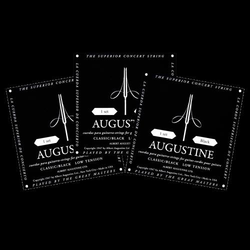 Augustine Black Klassieke Snaren - Normaal/Lage Spanning Triopack