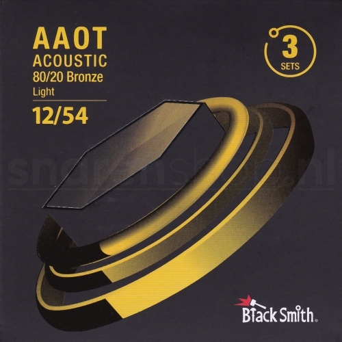 BlackSmith AABR-1254-3P Snaren met Coating voor Akoestische Gitaar (12-54) Light 3-Pack