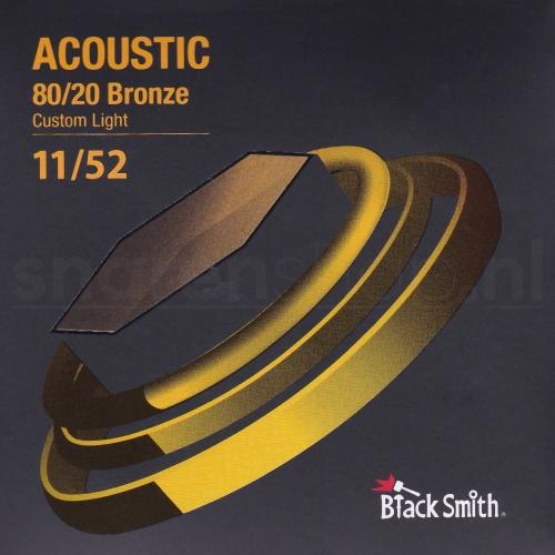 Blacksmith snaren met coating voor akoestische gitaar. Bronze wound, dikte .011-052 (Light)