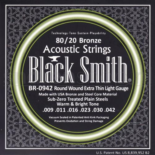 BlackSmith BR-0942 Snaren voor Akoestische Gitaar (9-42) Extra Thin Light