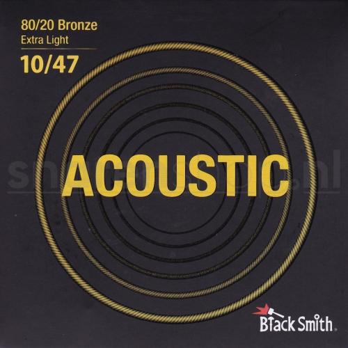 Blacksmith snaren voor akoestische gitaar. Bronze wound, dikte .010-047 (extra Light)