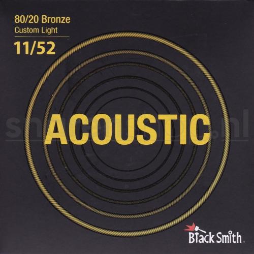 Blacksmith snaren voor akoestische gitaar. Bronze wound, dikte .011-052 (Light)