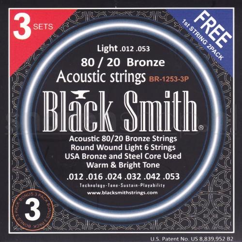 Blacksmith BR1152 triopack snaren voor akoestische gitaar